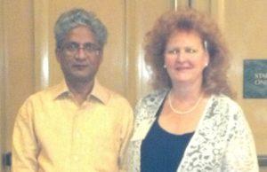 Ellen with Rajan Sankaran