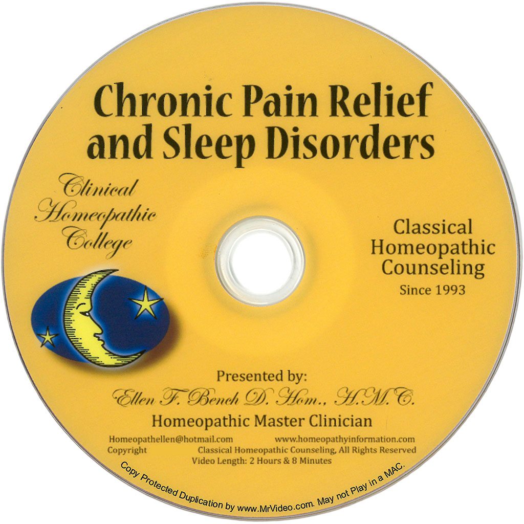 Homeopathic Pain and Sleep Disorders DVD Class