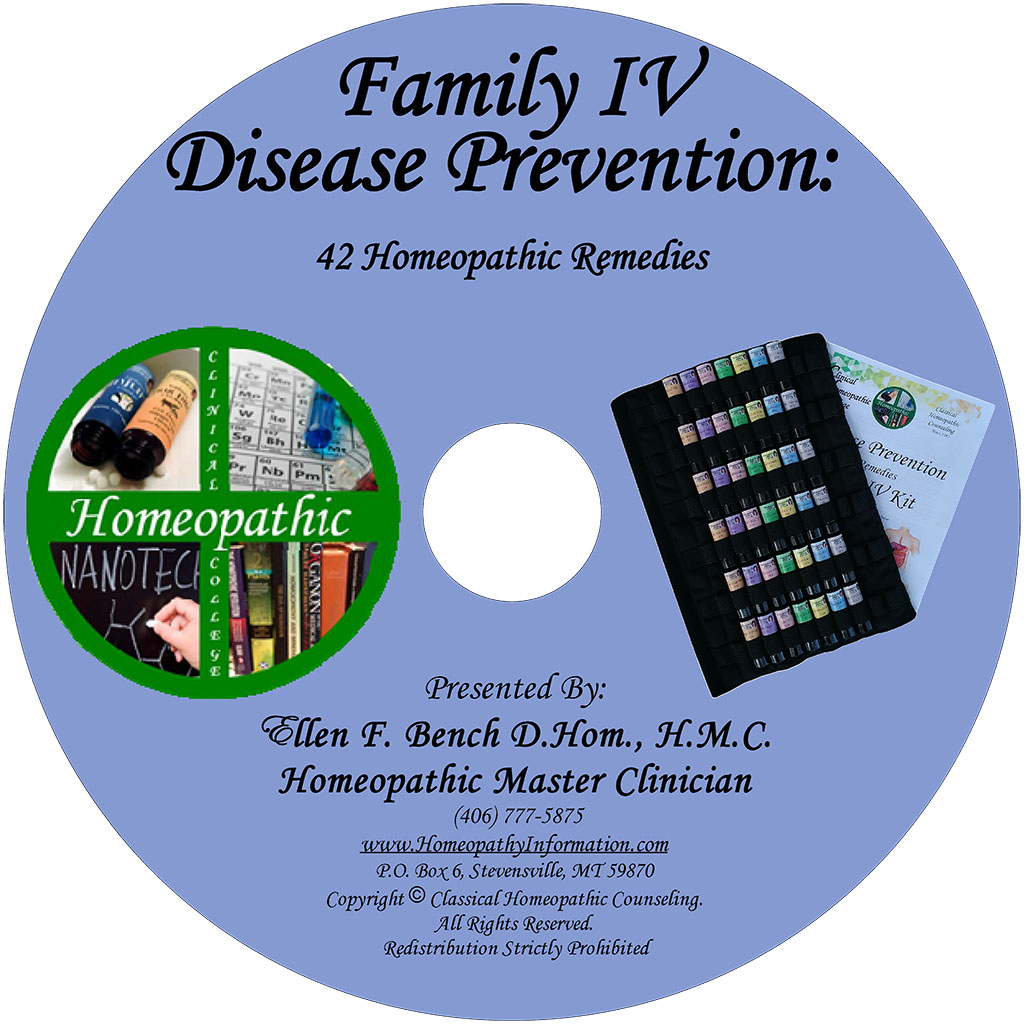 Homeopathic Disease Prevention Family 4 Class DVD