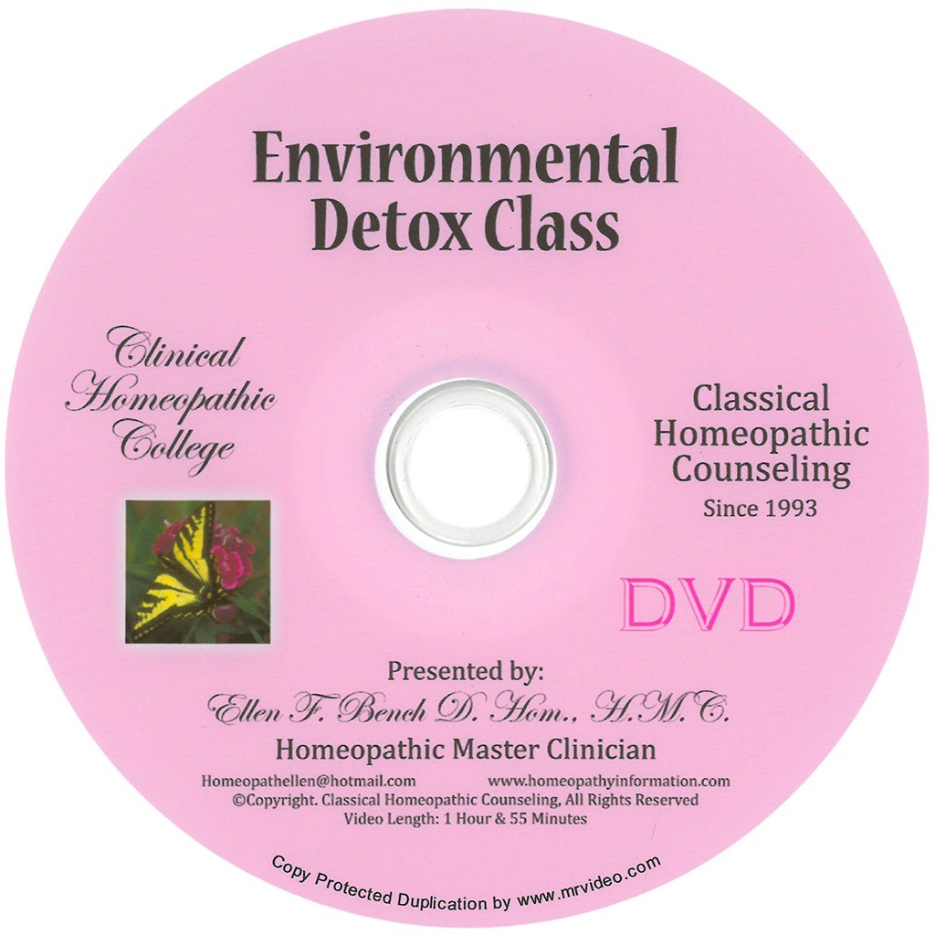 Homeopathic Environmental Detox Class DVD