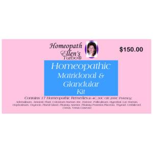 Homeopathic Matridonal and Glandular Kit